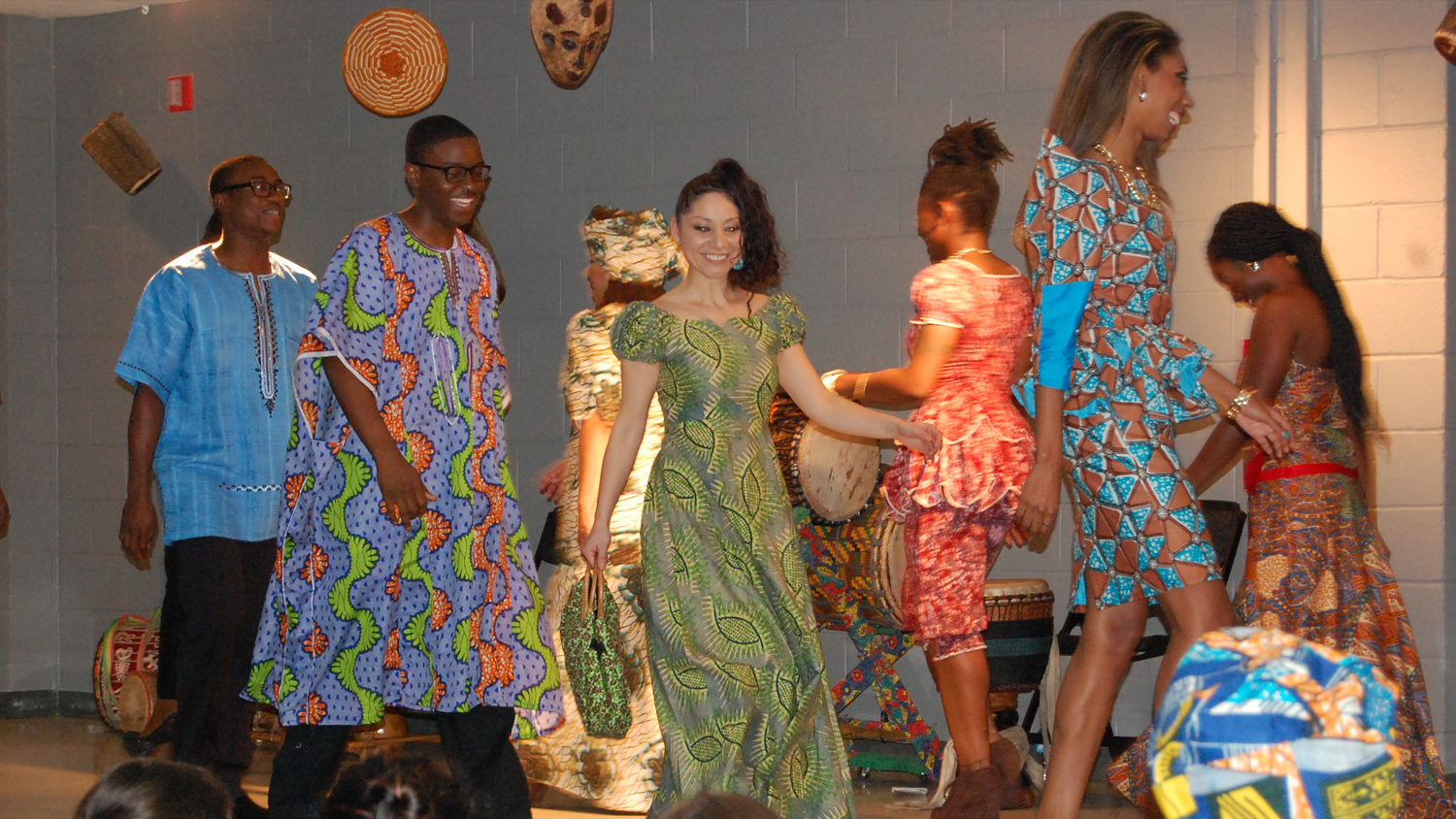Students in a fashion show