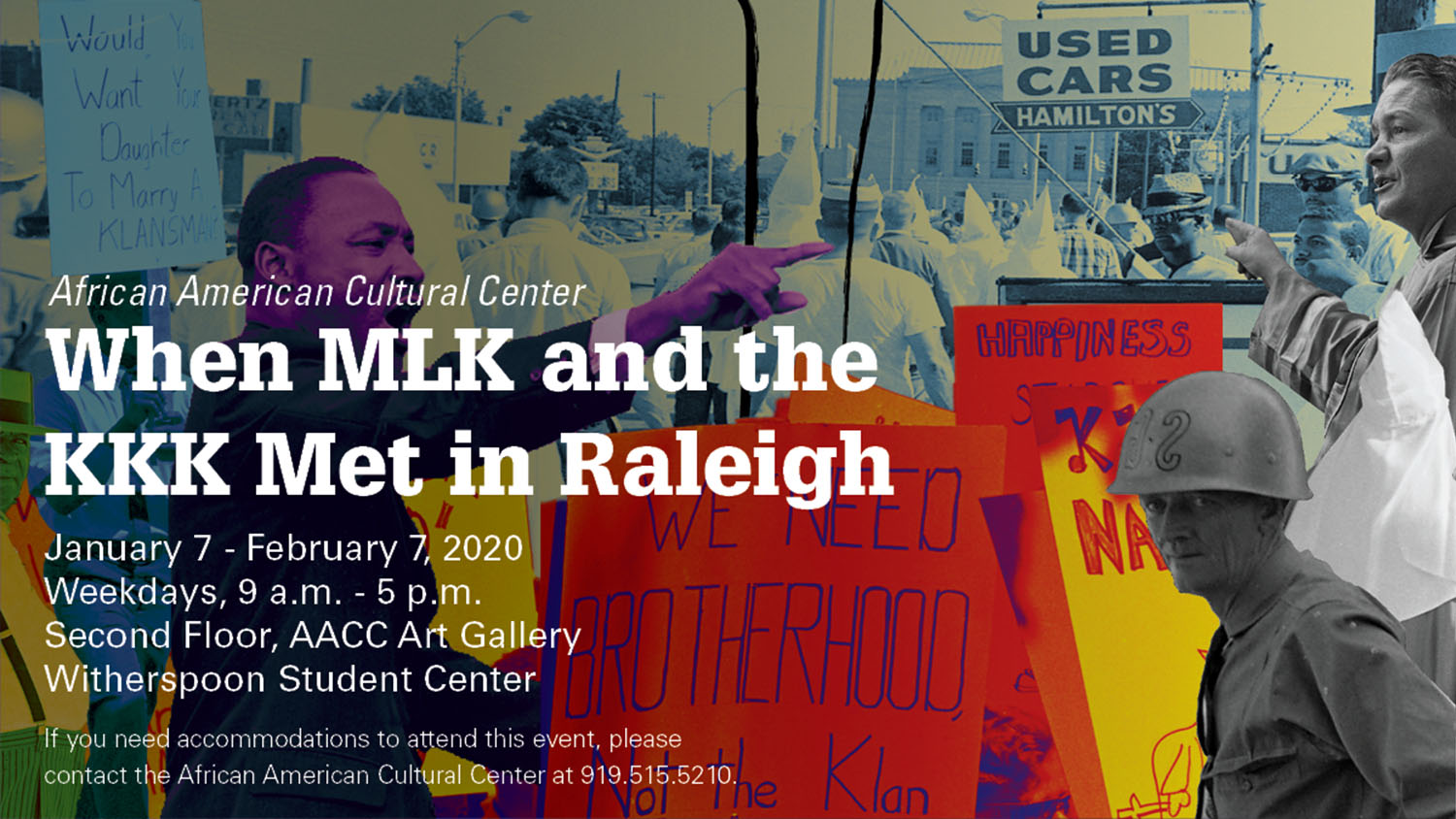 Graphic for MLK/KKK gallery show