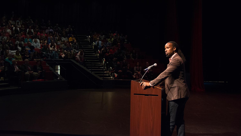 Ibram X. Kendi speaks at NC State in January, 2020