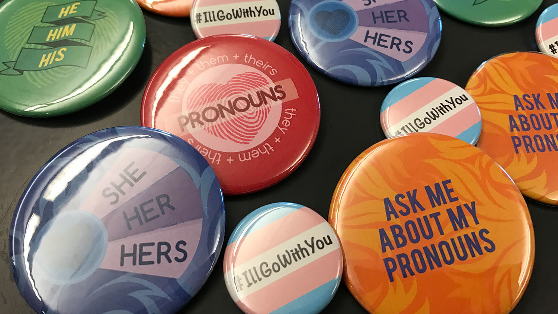 Pronoun Buttons
