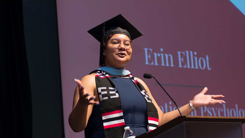 Erin Elliot, Multicultural Graduation speaker