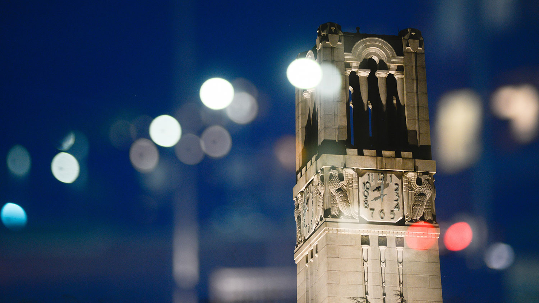 Belltower at night