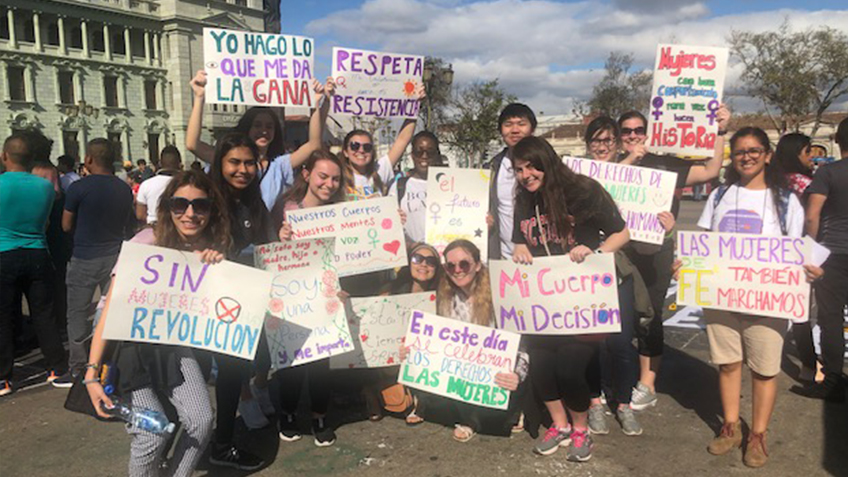ASB Students at a protest