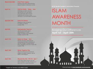 Islam Awareness Month calendar
