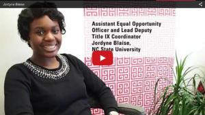 Video of Jordyne Blaise, Lead Deputy Title IX Coordinator