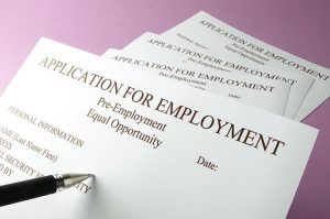 Photo of employment application