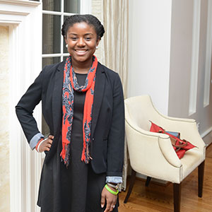 O'Licia Parker-Smith at Chancellor's First Year Student Leadership Program Closing Ceremony