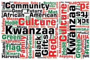 Kwanzaa word montage