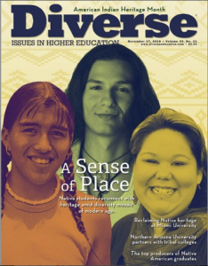 Diverse Issues in Higher Ed magazine cover