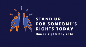Stand up for someone's rights today!