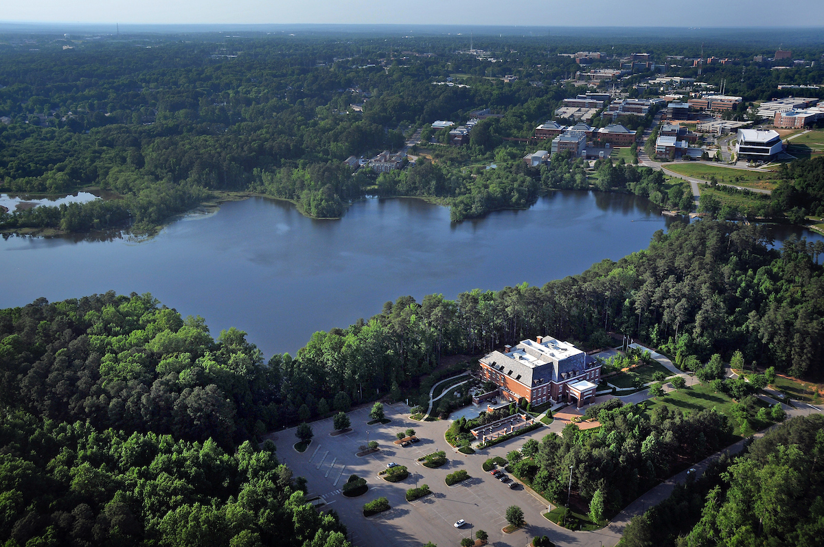 Lake Raleigh with Park Alumni Center