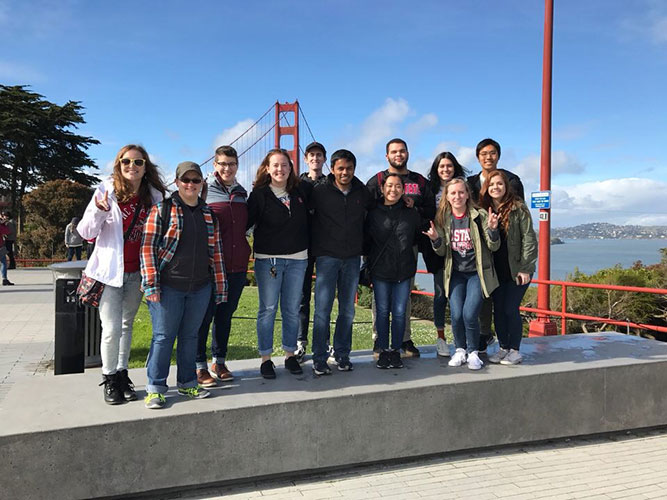 Students on San Francisco ASB Trip