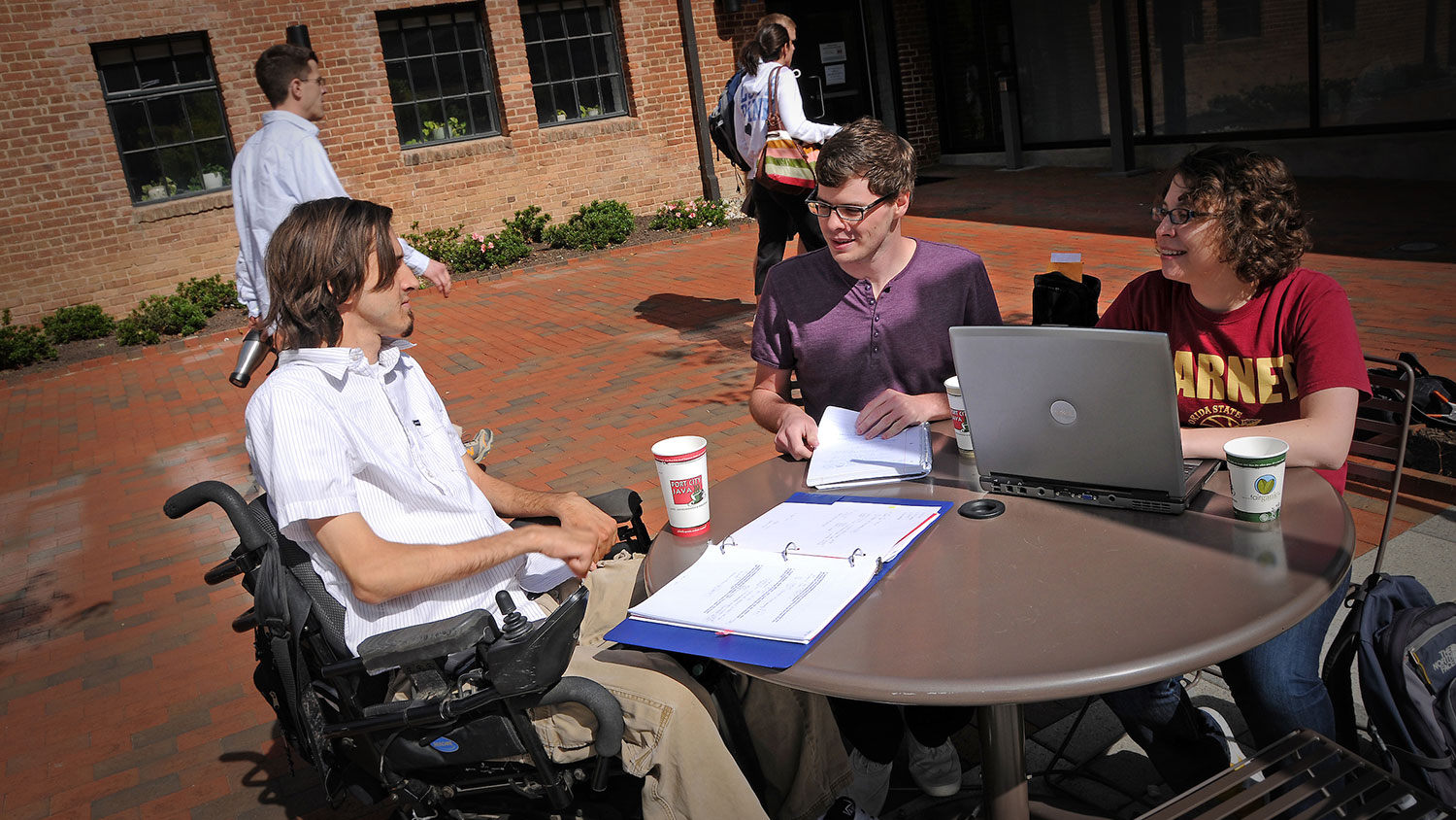 Students, some with disabilities, at Park Shops