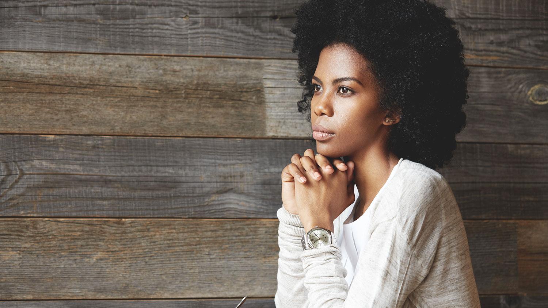 Black woman student
