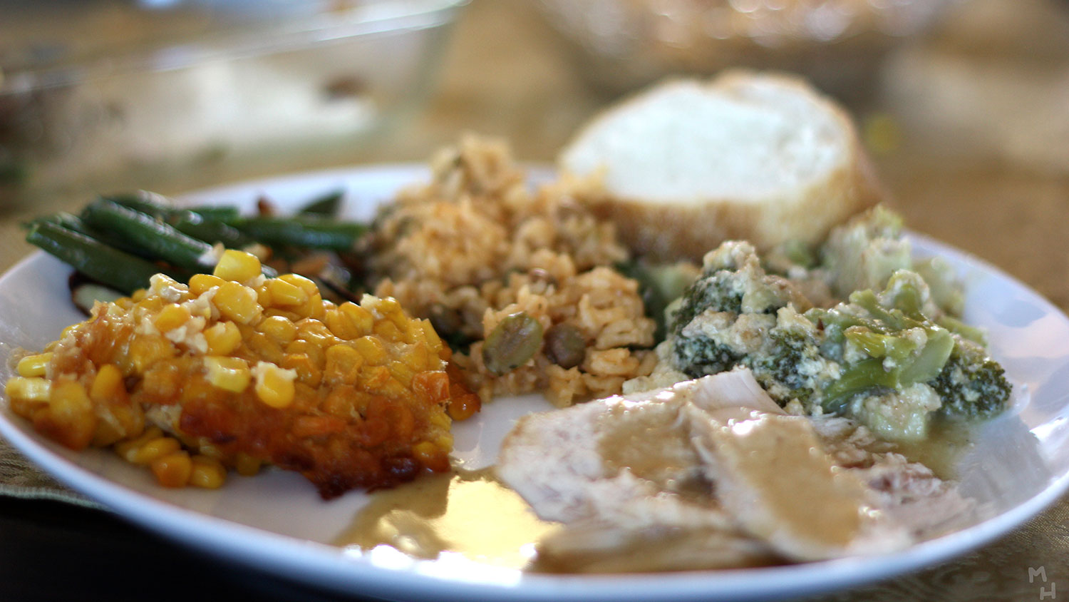 Thanksgiving dinner plate