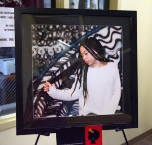 The Politics of Black hair exhibit photo