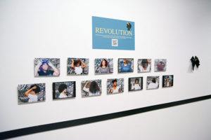 The Politics of Black Hair exhibit wall