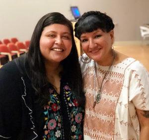 Marcela Torres-Cervantes with Sandra Cisneros