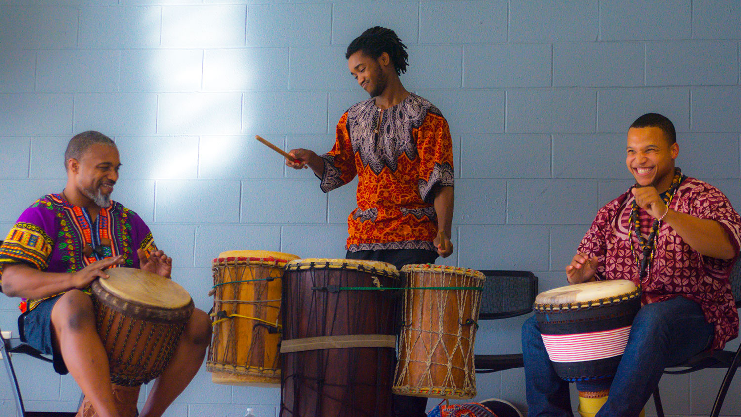 Drummers at Harambee celebration 2017