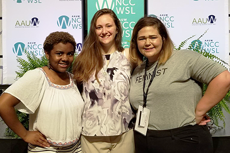 Kat Kirby with fellow students at NCCWSL