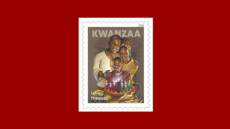 2018 Kwanzaa U.S. postage stamp