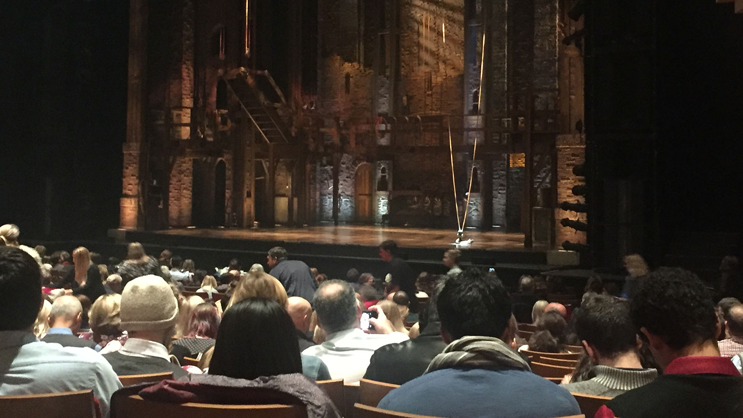 Hamilton stage before the show at DPAC