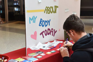 Love Your Body Day information table