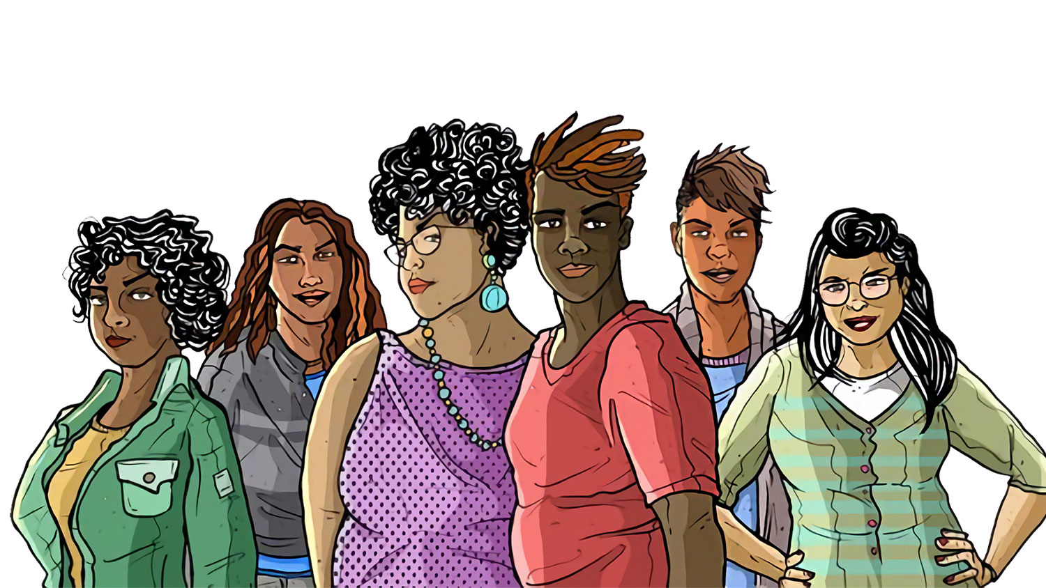 Queer and transgender people of color Illustration