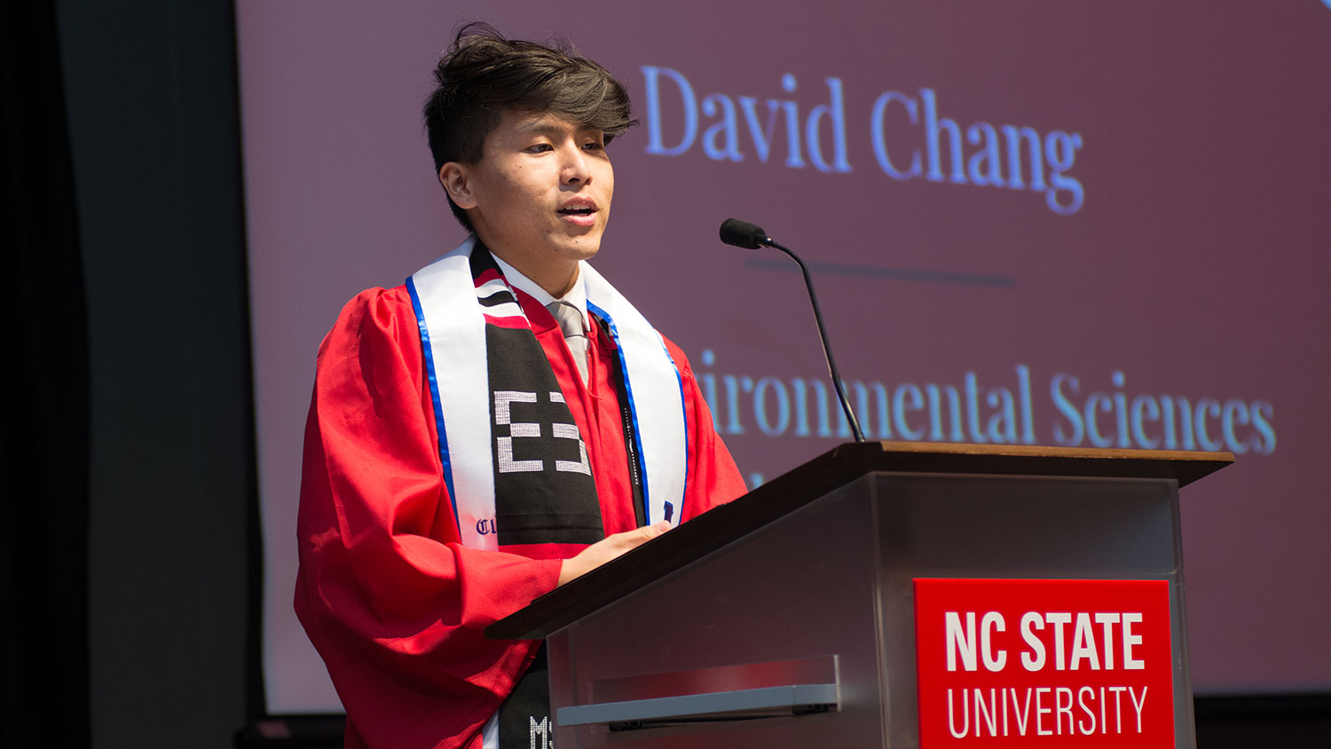 David Chang speaks at Multicultural Graduation