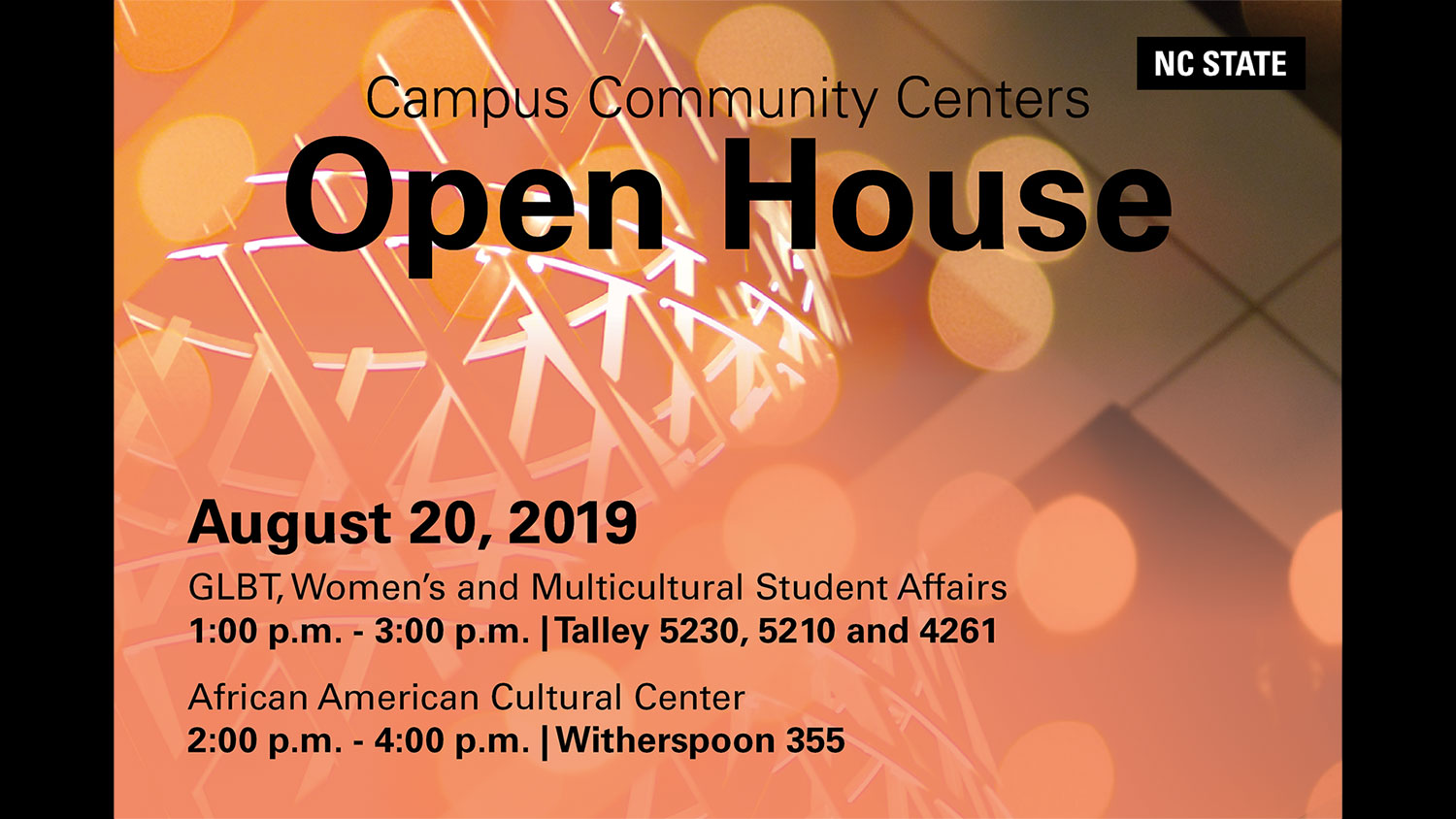 Campus Community Centers Open House