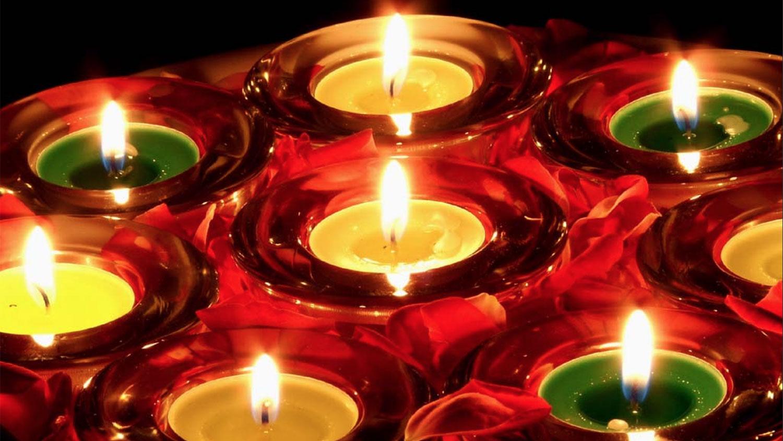 Festive Diwali candles