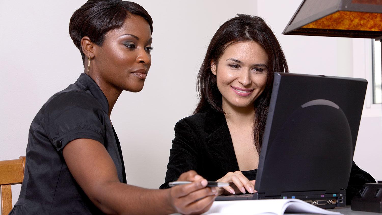 Women review applicants
