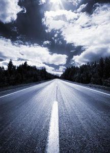 Road leading to horizon