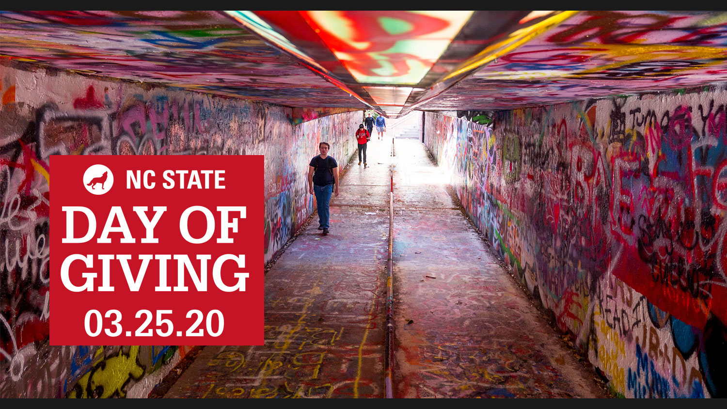 Day of Giving promo with Tunnel of Free Expression