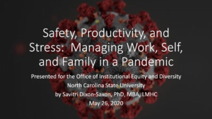 Safety, Productivity and Stress slide cover page