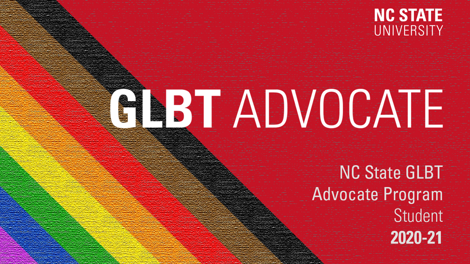 GLBT Student Advocate Program placard