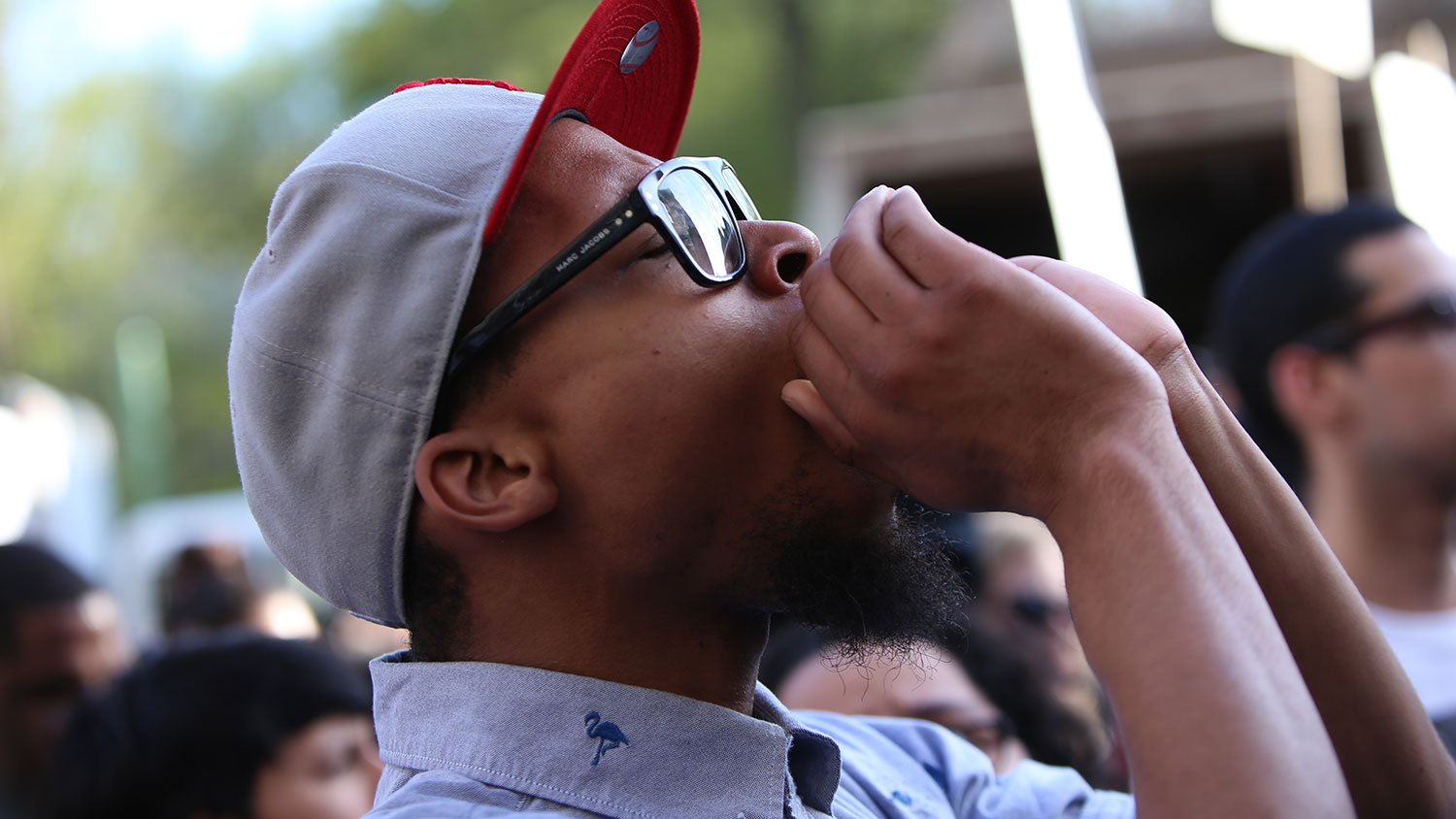 Young Black man at protest