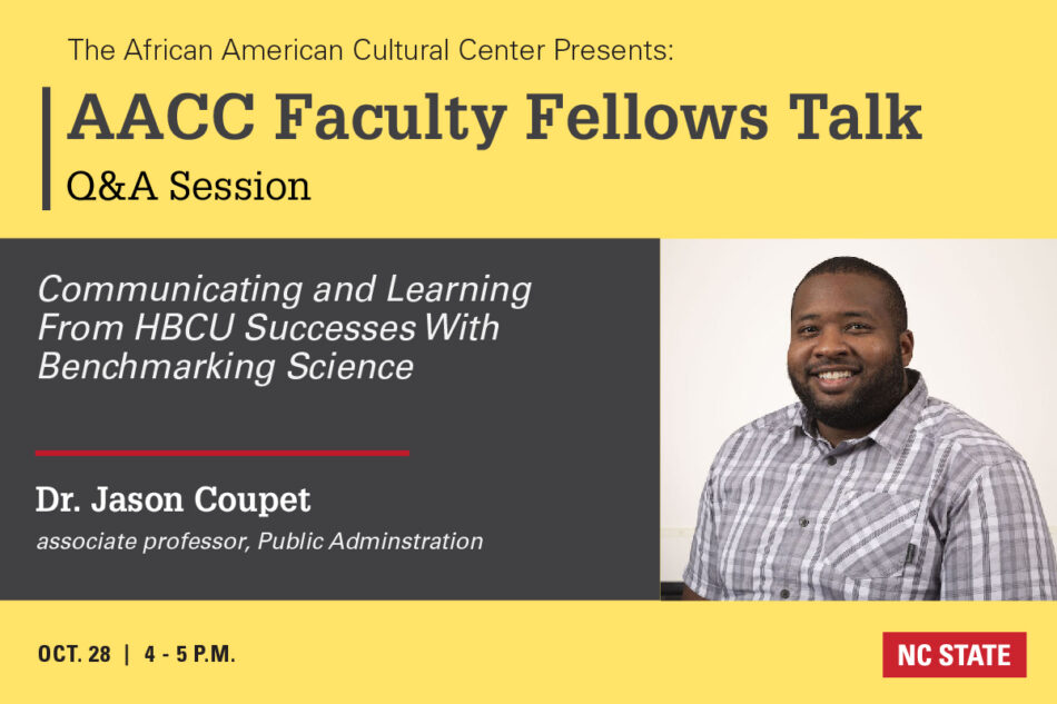African American Cultural Center Faculty Fellows with Jason Coupet