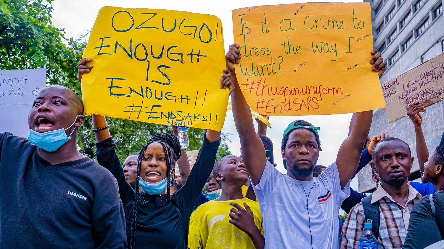 SARS protest against police brutality in Nigeria