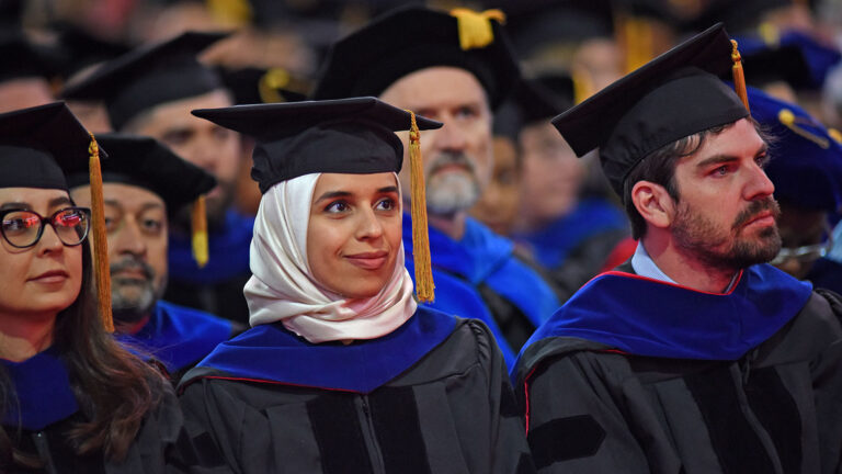 Graduate students at spring 2019 commencement