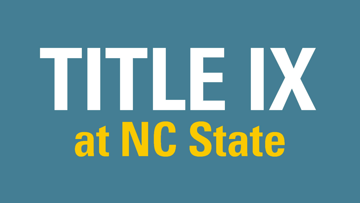 Title IX at NC State