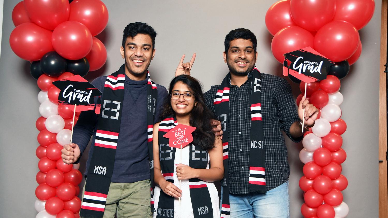2021 graduates celebrate in Multicultural Student Affairs