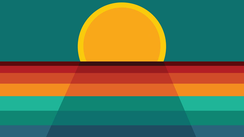 Rising sun illustration for Pack Support Survivor Alliance program